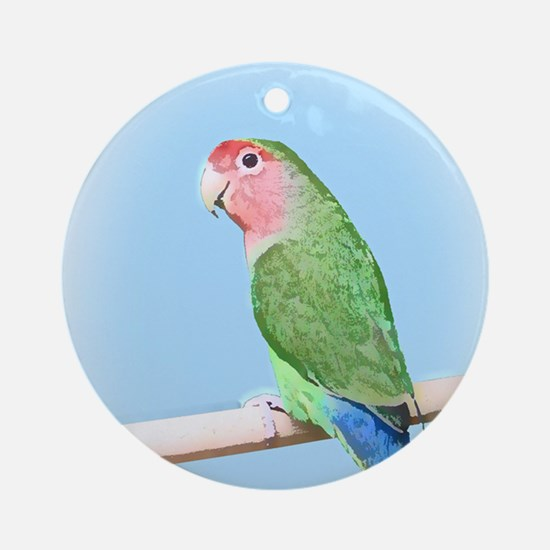 Peachfaced Lovebird Art Ornament (Round)
