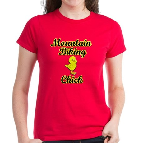 Mountain Biking Chick Women's Dark T-Shirt