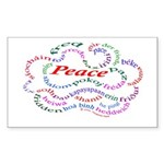 Fred-is-Peace Rectangle Sticker