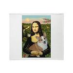 Mona - Corgi (Pembr-L) Throw Blanket
