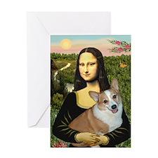 Mona - Corgi (Pembr-L) Greeting Card