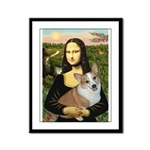 Mona - Corgi (Pembr-L) Framed Panel Print