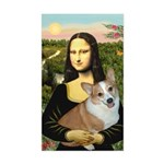Mona - Corgi (Pembr-L) Sticker (Rectangle)