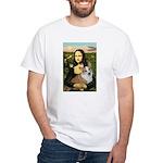 Mona - Corgi (Pembr-L) White T-Shirt