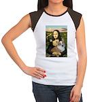 Mona - Corgi (Pembr-L) Women's Cap Sleeve T-Shirt