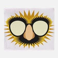 Groucho Glasses on White.png Throw Blanket