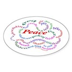 Fred-is-Peace Oval Sticker