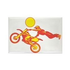 Flying Dirtbike Rectangle Magnet