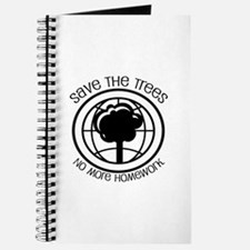 Save the Trees No More Homework Journal
