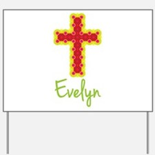Evelyn Bubble Cross Yard Sign