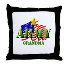 ARMY (2) Grandma Throw Pillow