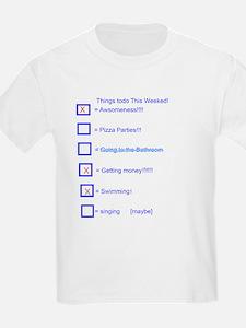 Kids To Do List T-Shirt