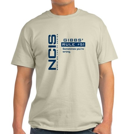NCIS Gibbs' Rule #51 Light T-Shirt