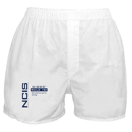 NCIS Gibbs' Rule #51 Boxer Shorts