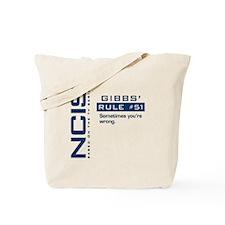 NCIS Gibbs' Rule #51 Tote Bag