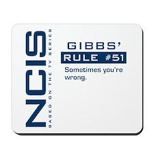 NCIS Gibbs' Rule #51 Mousepad