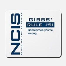 NCIS Gibbs' Rule #51 Mousepad