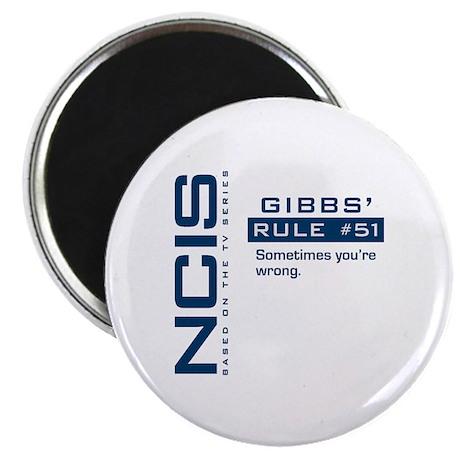 "NCIS Gibbs' Rule #51 2.25"" Magnet (10 pack)"
