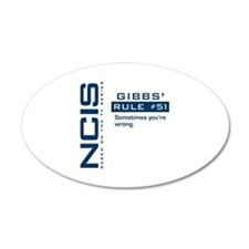 NCIS Gibbs' Rule #51 22x14 Oval Wall Peel