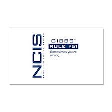 NCIS Gibbs' Rule #51 Car Magnet 20 x 12