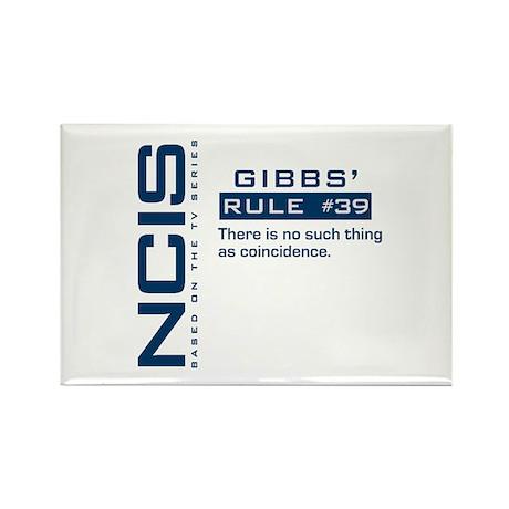 NCIS Gibbs' Rule #39 Rectangle Magnet (100 pack)