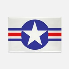 Air Force Star and Bars Rectangle Magnet