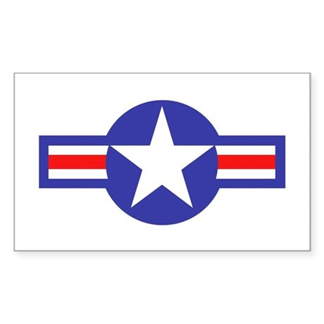 Air Force Star and Bars Rectangle Sticker