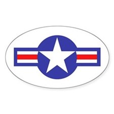 Air Force Star and Bars Oval Decal