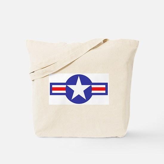 Air Force Star and Bars Tote Bag