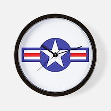 Air Force Star and Bars Wall Clock