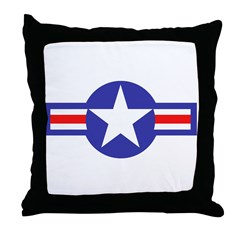 Air Force Star and Bars Throw Pillow