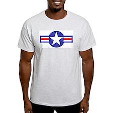 Air Force Star and Bars Ash Grey T-Shirt