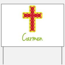 Carmen Bubble Cross Yard Sign