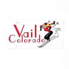 Unique Colorado skier Aluminum License Plate
