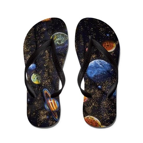 Out of this World Flip Flops