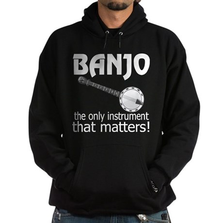 Banjo Music Instrument Hoodie (dark)