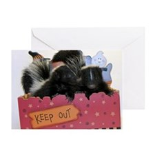 Skunks Keep Out Card