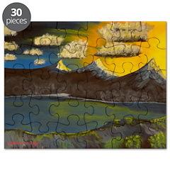 Valley Lake sunset decor/gift Puzzle