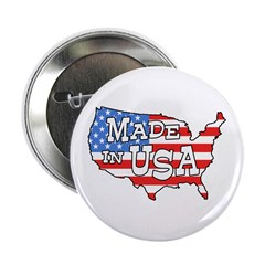 Made in USA Map Button