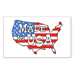 Made in USA Map Rectangle Decal