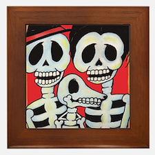 Funny Mexican sugar skulls Framed Tile