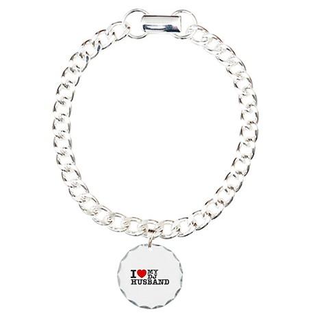 I love my Dj Husband Charm Bracelet, One Charm