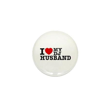 I love my Dj Husband Mini Button (100 pack)