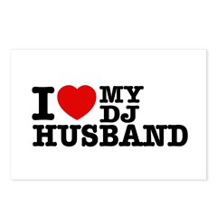 I love my Dj Husband Postcards (Package of 8)