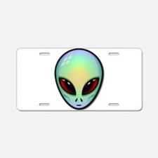 Alien Head.png Aluminum License Plate