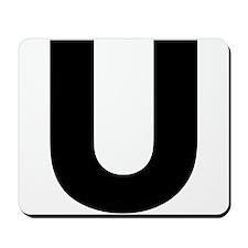 Letter U Mousepad