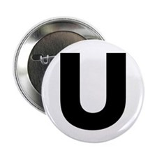 "Letter U 2.25"" Button (10 pack)"