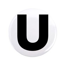 "Letter U 3.5"" Button (100 pack)"