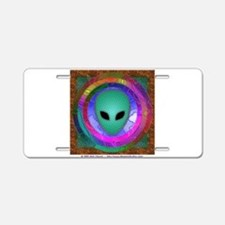 Alien Head Aluminum License Plate