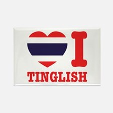 Heart (Love) I Tinglish Rectangle Magnet